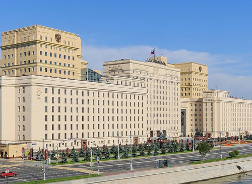 Building of Russian Ministry of Defence at Frunzenskaya Embankment. Moscow, Russia